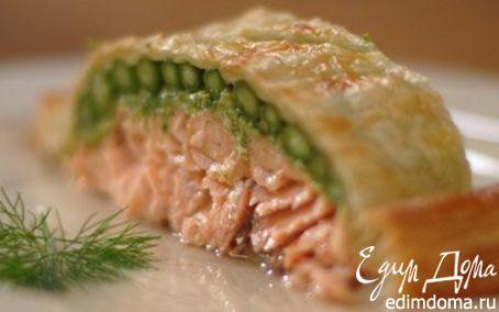 Рецепт Лосось, запеченный со спаржей