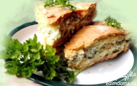 Рецепт Пирог с плавленым сыром