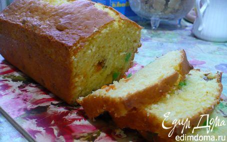 Рецепт Кекс с цукатами и грецкими орехами