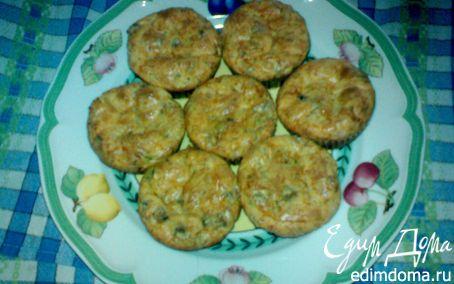 Рецепт Ветчинно-сырные маффины с шампиньонами