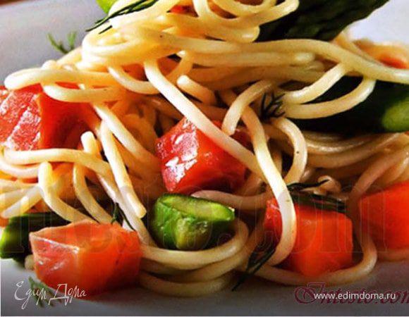 Спагетти со стручковой фасолью