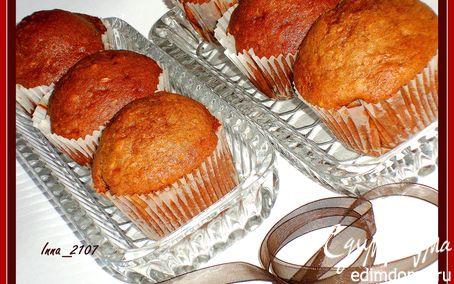 Рецепт Шоколадно-банановые маффины с миндалем