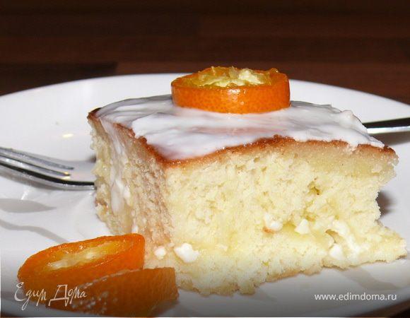 Домашний пирог с творогом