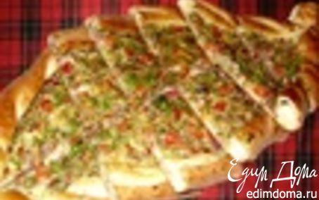 """Рецепт Пицца """"Пиде"""" с сыром"""
