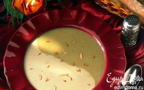 Рецепт Суп-крем из спаржи с кедровыми орехами и шафраном