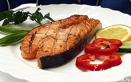 Рецепт Стейки семги в соево-имбирном соусе