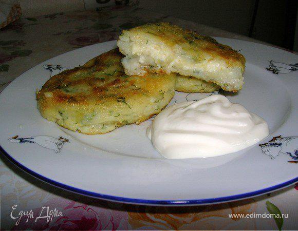 """Картофельные """"пирожки"""" с творогом"""