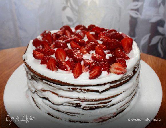 """Торт """"Клубничный лес"""""""