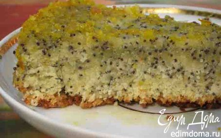 Рецепт Апельсиновый пирог с маком и цитрусовой глазурью