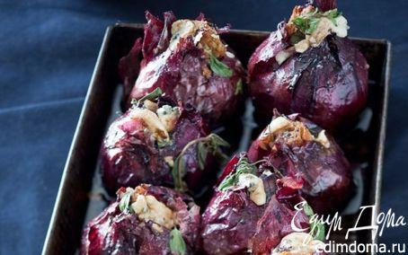 Рецепт Фаршированный красный лук с сыром