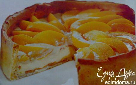 Рецепт Торт из белого шоколада с персиками