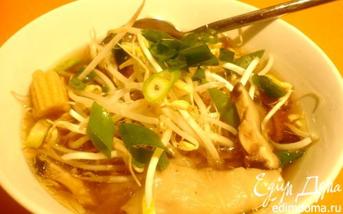 Рецепт Кантонский суп с вонтонами