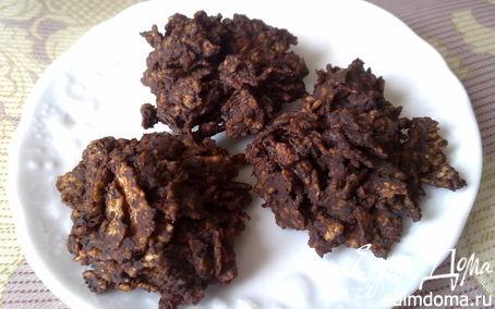 Рецепт «Печенье» из горького шоколада и кукурузных хлопье