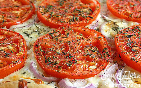 Рецепт Слоеный пирог с помидорами