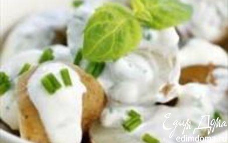 Рецепт Салат с молодым картофелем под сметанным соусом