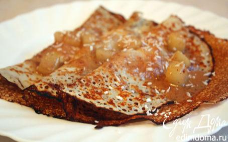 Рецепт Рисовые блинчики с грушевым соусом