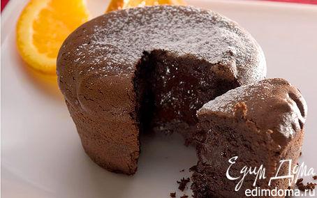 Рецепт Шоколадные кексы с жидкой начинкой