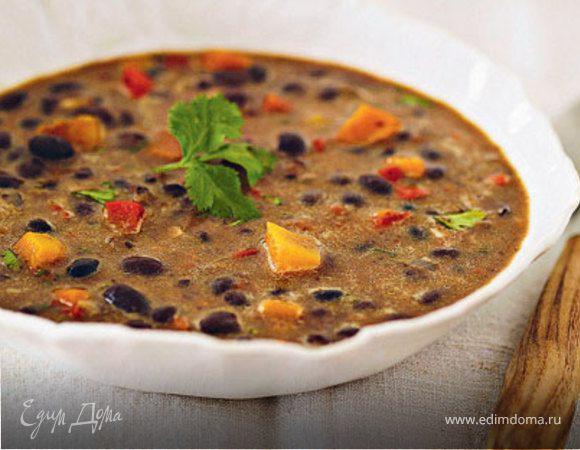 Суп из темной фасоли