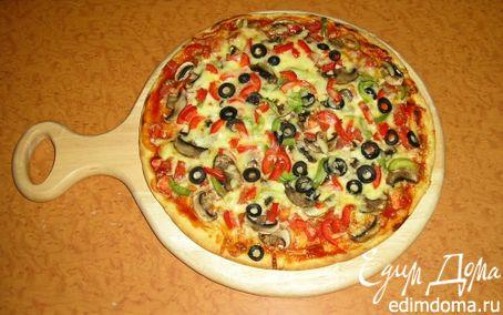"Рецепт Пицца ""Море, солнце, пляж"""