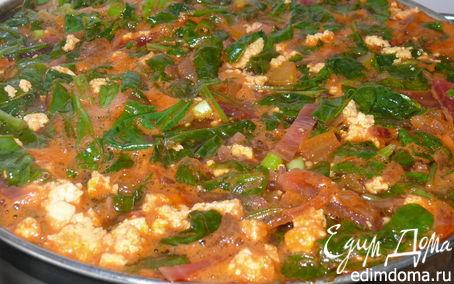 Рецепт Летний зелёный борщ со шпинатом