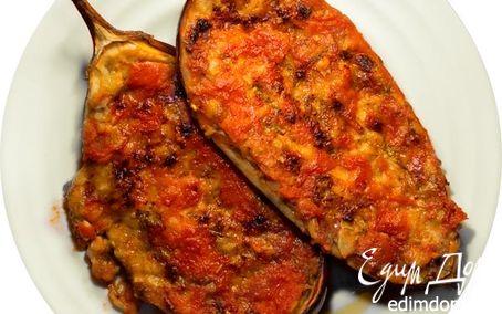 Рецепт Фаршированный запеченный баклажан