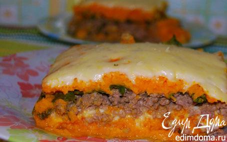 Рецепт Запеканка из тыквы с мясом