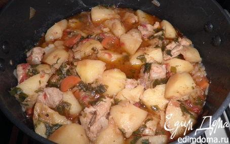 Рецепт Свинина, тушеная в пиве с картофелем