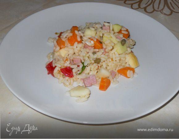 Холодный сaлaт с рисом