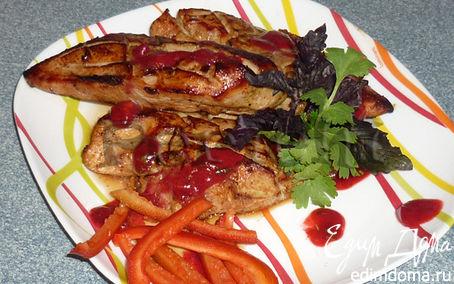 Рецепт Пряная курица под кизиловым соусом