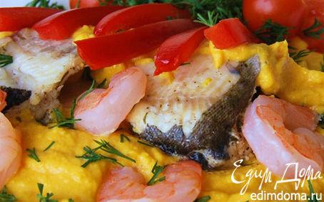 Рецепт Форель под тыквенным соусом