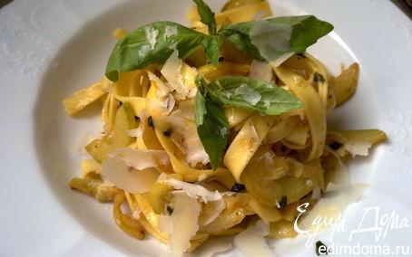 Рецепт Тальятелле с кабачками и лимоном