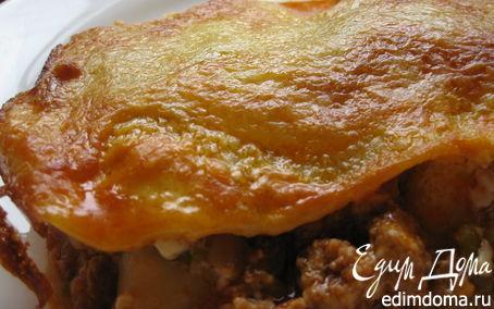 Рецепт Лазанья с фаршем, овощами и грибами