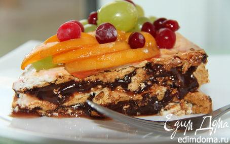 Рецепт Нежный безе-торт с пивным кремом и фруктами!