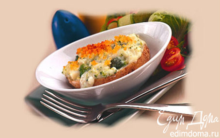 Рецепт Запечённый картофель, фаршированный брокколи