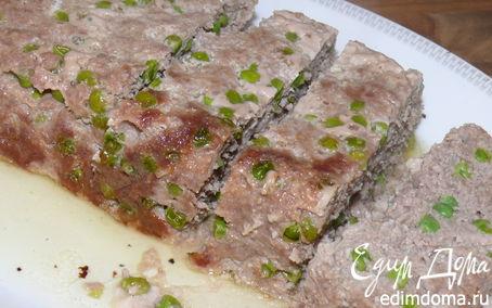 Рецепт Итальянский мясной хлеб с зеленым горошком