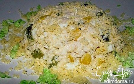 Рецепт Куриный салат с кедровыми орешками