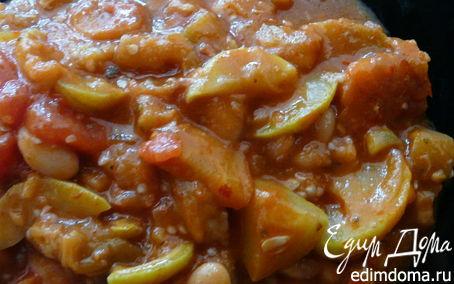 Рецепт Тушеные овощи с фасолью