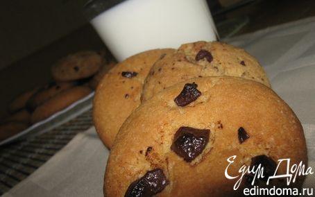 Рецепт Печенье с кусочками шоколада Cookies with chocolate chips