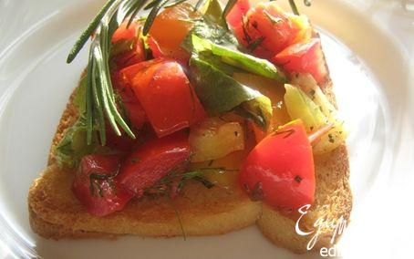Рецепт Брускетта со свежими овощами