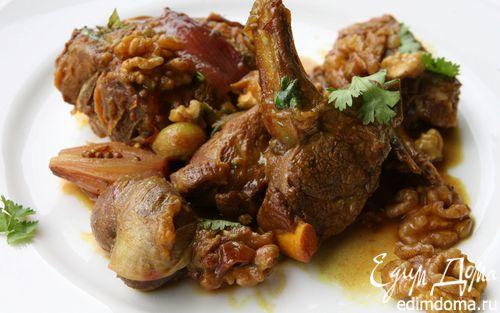 Рецепт Баранина со сливами и грецкими орехами