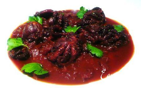 Рецепт Осьминоги в вине c пряностями