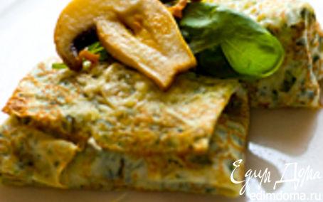 Рецепт Блины с начинкой из шампиньонов