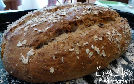 Рецепт Овсяный хлеб с орехами и фруктами