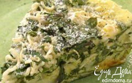 Рецепт Омлет с луком и шпинатом