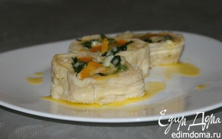 Рецепт Ротоло со шпинатом, тыквой и моцареллой