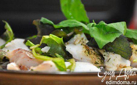 Рецепт Треска паровая с микс-салатом. (Steam Cod Fish & Mix Salad)