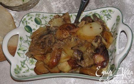 Рецепт Жаркое с маринованной свининой