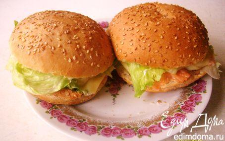 Рецепт Гамбургеры с красной рыбой