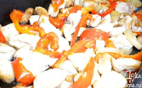 Рецепт Куриная грудка с болгарским перцем