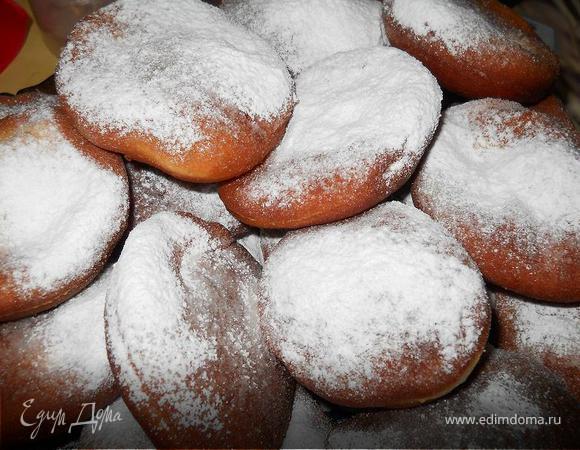 Пончики с начинкой и без
